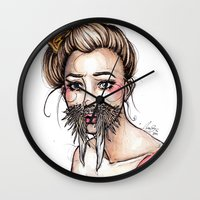 walrus Wall Clocks featuring Walrus by Nora Bisi