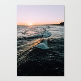 Surf sunset Canvas Print