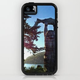 The Maiden of Deception Pass Totem Pole iPhone Case