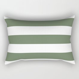 Axolotl - solid color - white stripes pattern Rectangular Pillow