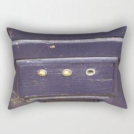 Old purple door Rectangular Pillow