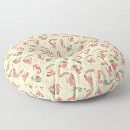 A Chance of Rain - Coral & Cream Floor Pillow