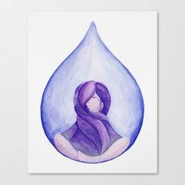 Tear Drop-Violet Canvas Print