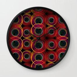 Circled Retro Wall Clock