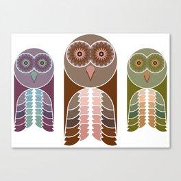 Owl With Kaleidoscope Eyes Canvas Print