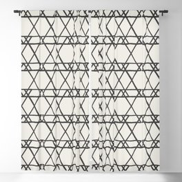 lines crayon-ivory Blackout Curtain