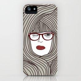 Long Hair Woman iPhone Case