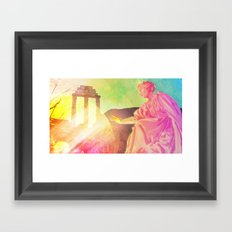 the discovery of technicolor Framed Art Print