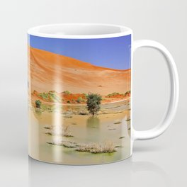 Water in the Namib desert after rain season, Namibia Coffee Mug