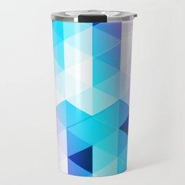 Abstract Triangle Colorful Travel Mug