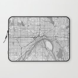 St Paul Map Line Laptop Sleeve