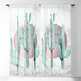 Desert Cactus Marble Sun Rose Gold + Sage by Nature Magick Blackout Curtain