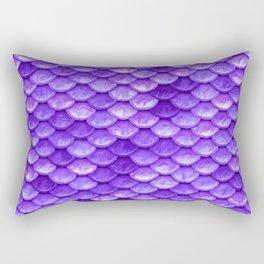 Purple Mermaid Rectangular Pillow