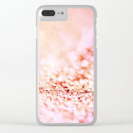 Pink shiny glitter - Sparkle Girly Valentine Backdrop Clear iPhone Case