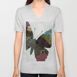 Butterfly Brocade II Unisex V-Neck