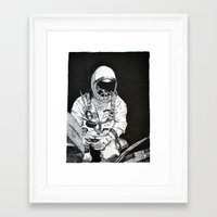 spaceman Framed Art Prints featuring Spaceman by Bri Jacobs