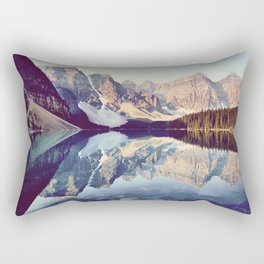 Moraine Lake Reflection Rectangular Pillow