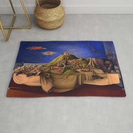 'The Dream of the Malinche' magical realism dream portrait painting by Antonio Ruiz Rug
