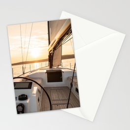 Sailing into the sunset- Nautical Photography- Sailors dream Stationery Cards