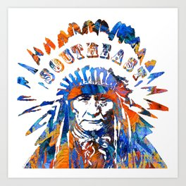 Southeast Native American Logo Design by Sharon Cummings Art Print
