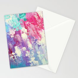 Pink and Blue Abstract Stationery Cards