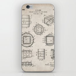 Whisky Barrel Patent - Whisky Art - Antique iPhone Skin