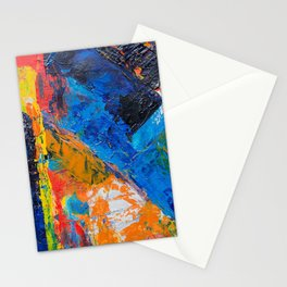 oil paints colorful art Stationery Cards