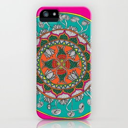 Fish in the lotus pond iPhone Case