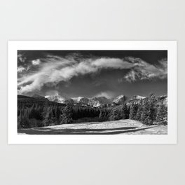 Rocky Mountan Park in Black and White Art Print