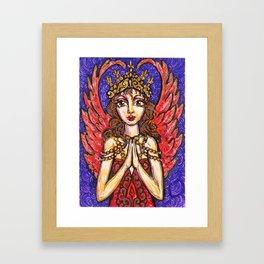 Winged Goddess Framed Art Print