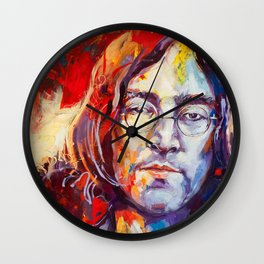 Watercolor John lenon Wall Clock