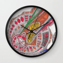 Meteors Wall Clock