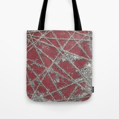 Sparkle Net Red Tote Bag