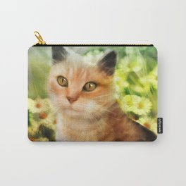 """Kitty in the sunlight field"" Carry-All Pouch"