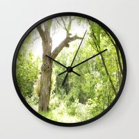 narnia Wall Clocks featuring NARNIA - The Forest  by Lord Elion