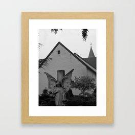 Peaceful Churchyard in Denmark II Framed Art Print