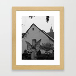 Peaceful Churchyard in Denmark II Framed Art Print