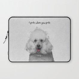 Cute Poodle Art Laptop Sleeve