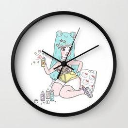 Cat Nips Wall Clock
