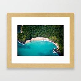 Turquoise Beach Framed Art Print