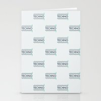techno Stationery Cards featuring Techno by Wallpaper Disco