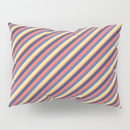 Summer Bright Colors Inclined Stripes Pillow Sham
