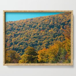Fall in Franconia Notch State Park. New Hampshire. USA. Serving Tray