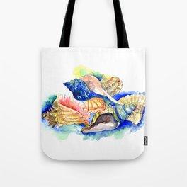 Beach design, Seashell, ocean beach seashell artwork, beach house Tote Bag