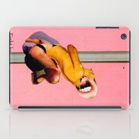 fight iPad Cases featuring Fight by Aaron Edelson