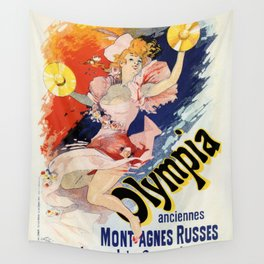 Olympia Paris 1892 by Jules Chéret Wall Tapestry