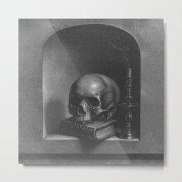 Vanitasstilleven in een nis Metal Print