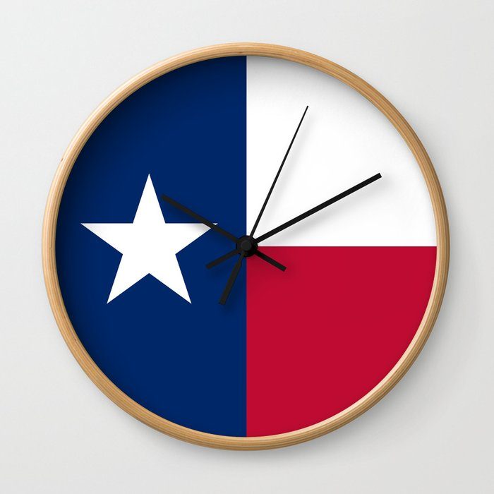 State flag of Texas Wall Clock