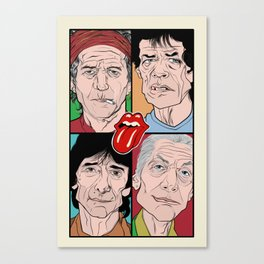 Rolling Stone cartoon Canvas Print