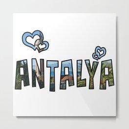 Love Antalya Metal Print